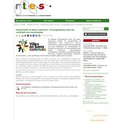Collectivités et biens communs : 16 propositions pour les candidats aux municipales