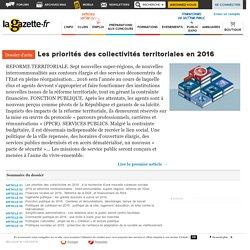 Les priorités des collectivités territoriales en 2016