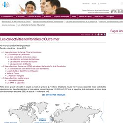 Les collectivités territoriales d'Outre mer (vitrine.Les collectivités territoriales d'outre mer) - CNFPT