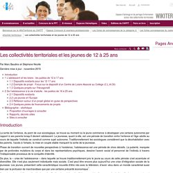 Les collectivités territoriales et les jeunes de 12 à 25 ans (vitrine.Les collectivités territoriales et les jeunes de 12 à 25 ans) - CNFPT