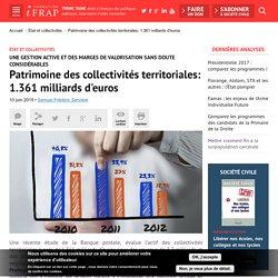 Patrimoine des collectivités territoriales: 1.361 milliards d'euros