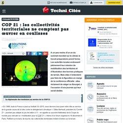 COP 21: les collectivités territoriales ne comptent pas œuvrer en coulisses