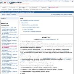 Code général des collectivités territoriales - Article L2321-2