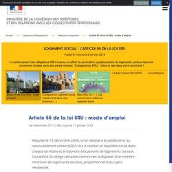 Logement social : l'article 55 de la loi SRU
