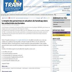 L'emploi des personnes en situation de handicap dans les collectivités territoriales - TRAIM