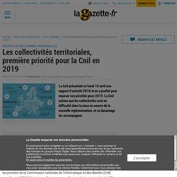 Les collectivités territoriales, première priorité pour la Cnil en 2019