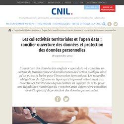 Les collectivités territoriales et l'open data : concilier ouverture des donn...