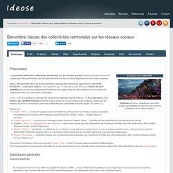 Baromètre des collectivités territoriales sur les réseaux sociaux - Ideose