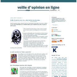 Veille d'opinion pour les collectivités territoriales - kamablog, veille d'opinion en ligne
