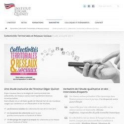 Etude annuelle 2013 : Collectivités Territoriales et Réseaux Sociaux