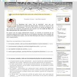 Le contrôle de légalité des actes des collectivités territoriales