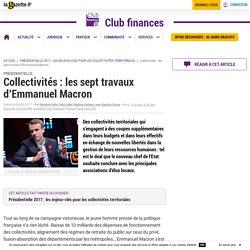 Collectivités : les sept travaux d'Emmanuel Macron
