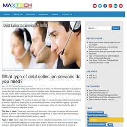 Debt Collector Services in India
