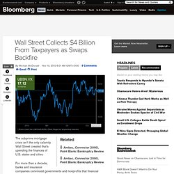 Wall Street Collects $4 Billion From Taxpayers as Swaps Backfire