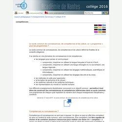 collège 2016 - compétences