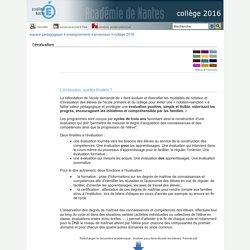 collège 2016 - l'évaluation