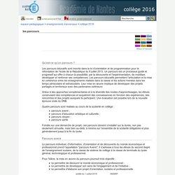 collège 2016 - les parcours