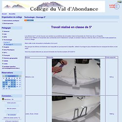 Collège du Val d'Abondance - Technologie - Ouvrage 5°