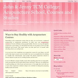 Ways to Stay Healthy with Acupuncture Courses