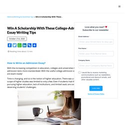 Tips to Write a College Admission Essay