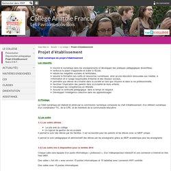 Collège Anatole France - Projet d'établissement
