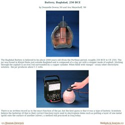 College Museum of Ancient Inventions: Baghdad Battery