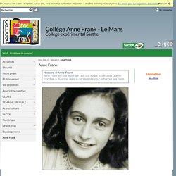 Collège Anne Frank - Le Mans - Anne Frank