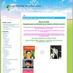 Blog du CDI du collège Antoine Faure à Olonzac » Histoire des arts