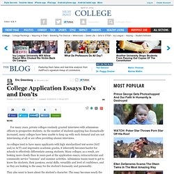College Application Essays Do's and Don'ts