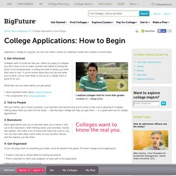 College Applications: How to Begin