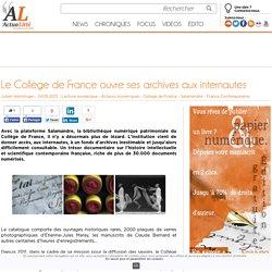 Le Collège de France ouvre ses archives aux internautes