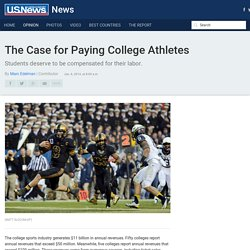 NCAA College Athletes Should Be Paid