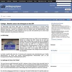 Collège : Bataille autour des bilangues et des EPI
