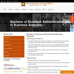 Top BBA College in Andhra Pradesh, BBA in Business Analytics