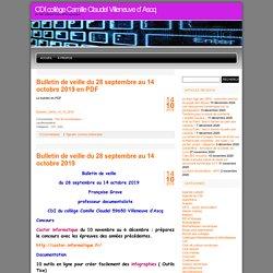 CDI collège Camille Claudel Villeneuve d' Ascq » 2019 » octobre
