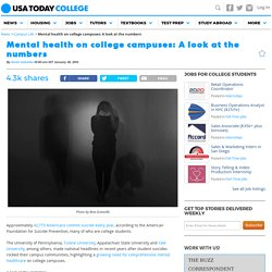 Mental health on college campuses: A look at the numbers