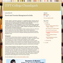 ITFT College Chandigarh: Travel And Tourism Management In India