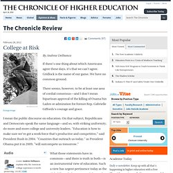 College at Risk - The Chronicle Review