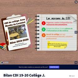 Bilan CDI 19-20 Collège J. Moulin by Pascale Ciscarès on Genially