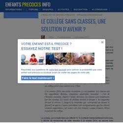 Le collège sans classes, une solution d'avenir ?