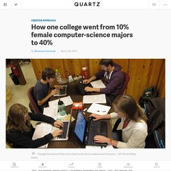 How one college went from 10% female computer-science majors to 40%