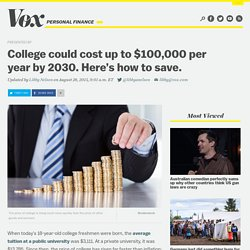 College could cost up to $100,000 per year by 2030. Here's how to save.