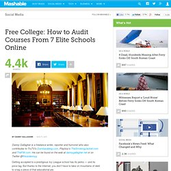 Free College: How to Audit Courses From 7 Elite Schools Online