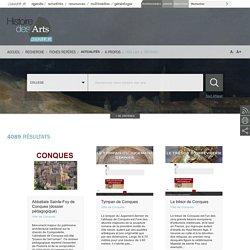 le site de recherche pour l'histoire des arts au collège
