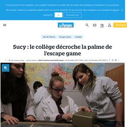 Sucy : le collège décroche la palme de l'escape game