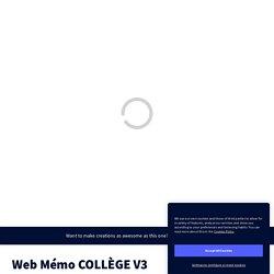 Web Mémo COLLÈGE V3