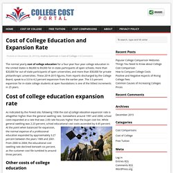 Cost of College Education and Expansion Rate