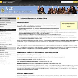 College of Education Scholarships