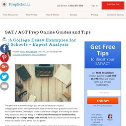 126 College Essay Examples for 12 Schools + Expert Analysis