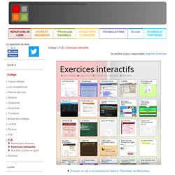 Collège > FLE > Exercices interactifs